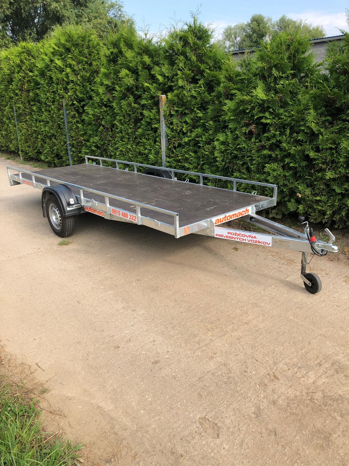 Prívesný vozík pre nadrozmernú prepravu do 750kg, dĺžka 4,5m šírka 1,5m